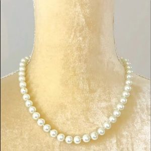 Vintage Carolee White Faux Pearl Necklace